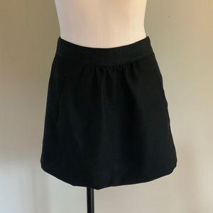 J.Crew 100% Wool Black Skirt